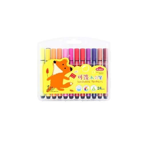 Lihgfw Kinder Acuarela Suave Cabeza Conjunto de lápiz de Color 36 niños...