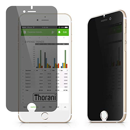 Thorani Privacy Filter compatibel met Apple iPhone SE (1. Gen. 2016) I Schermbeschermer met Anti-Spy Functie