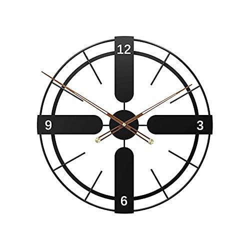 XQYPYL Reloj Pared con Vintage, Redondo Moderno Reloj de Pared Grande,Reloj Pared Silencioso, Reloj de Pared Decoración para Salón, Cocina, Oficina, Dormitorio, Casa, Hotel,01,50 * 50cm