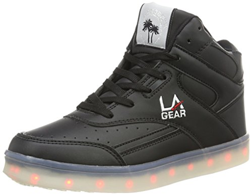 L.A. Gear Damen FLO Lights II High-Top, Schwarz (Black-wht Outsole), 36 EU