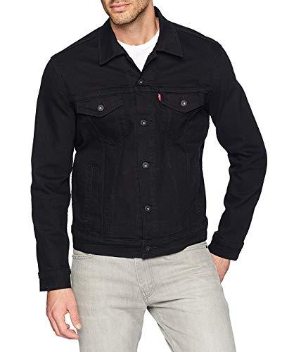 Levis Mens Trucker Jacket Outerwear, -larimar/black/stretch, XS