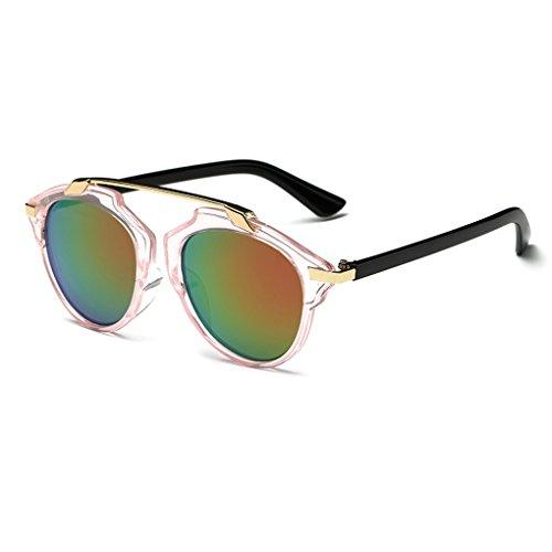 QHGstore Marco de las mujeres de los hombres gafas de sol al aire libre Vintage Eyewear de plástico #9