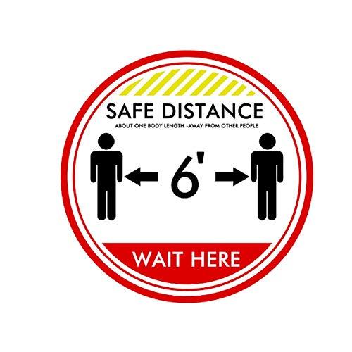 TARTIERY Keep Your Distance Social Distancing calcomanía de seguridad para piso, calcomanía de distancia para el suelo
