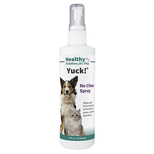 Healthy Solutions For Pets Yuck! Chewing Deterrent Spray for Dogs or Cats, Chewing Training Spray, Made in The USA