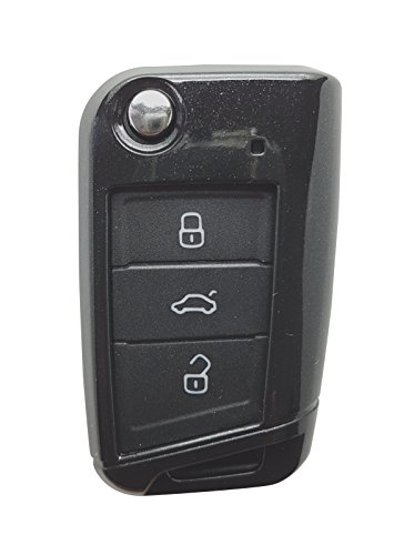 CK+ ABS autosleutelkoffer, sleutelhoes, siliconen koffer voor VW, Skoda, Stoel, Polo, Golf, Passat, Sharan, Touran, Leon, Ibiza, Alhambra, Octavia, Fabia, Prachtig Zwart