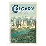 RQSY Vintage-Reise-Poster Kanada Calgary-Skyline,