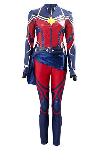 Avengers Endgame Captain capitán Marvel Carol Danvers Traje de Cosplay Mujeres XS