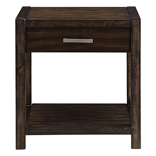 KAIBINY Tablas Tabla de café de madera del extremo del sofá mesa auxiliar moderna Decoración de muebles sitio soporte movible En Vida for Trabajar, Muebles for el Hogar Sofá lado del extremo de la tab