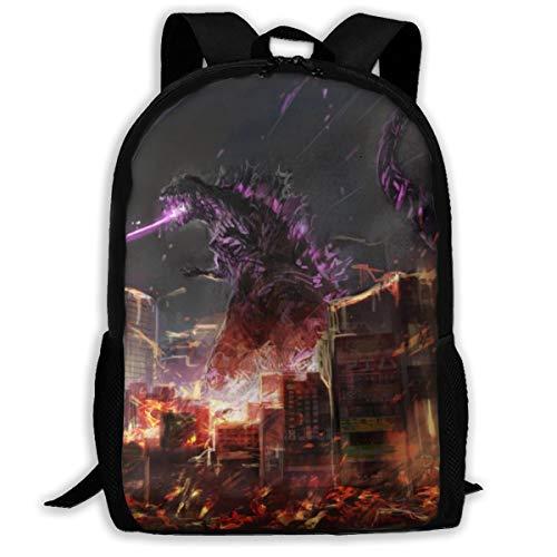 Godzilla School Travel Backpack Casual Daypack For Boys Girls Women Men