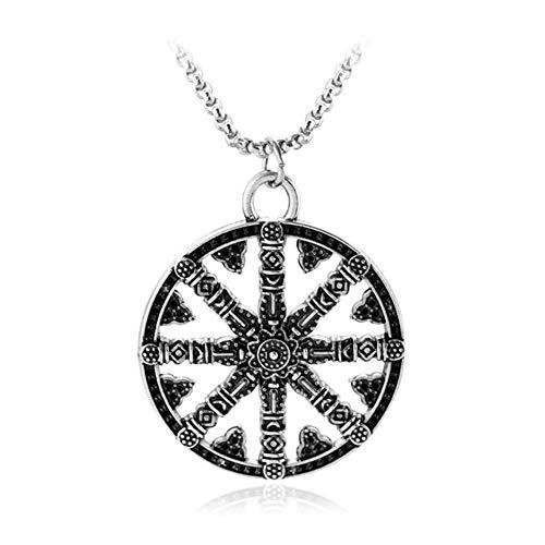 YUNGYE Pendant Símbolo Amuleto de la Runa de Viking de los nórdises de Odin de Runic Vikings Pendiente de la aleación del Collar de Regalo Runas (Metal Color : Xl0622)