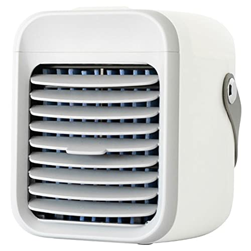 Condizionatore d'aria portatile 2000 mAh Mini Cordless Air Cooler con ricarica USB per la casa ufficio sala sport all'aperto bianco...