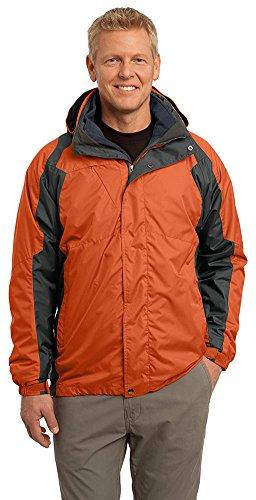 Port Authority Men's Ranger 3-in-1 Jacket, X-Large, Dark Cadmium Orange/Shadow