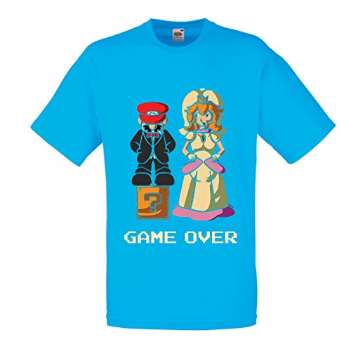 Lepni.me N4441 T-Shirt pour Hommes The Game is Over (Small Bleu Multicolore)