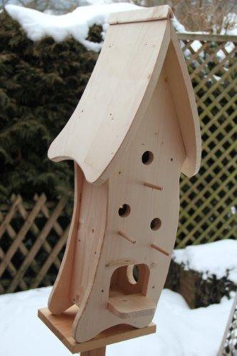 Dekorativer XXXL Nistkasten(N4) mit Vogelfutterhaus-Vogelhaus–Vogelhäuschen-sauberste Verarbeitung-Vogelhaus Garten Deko - 7