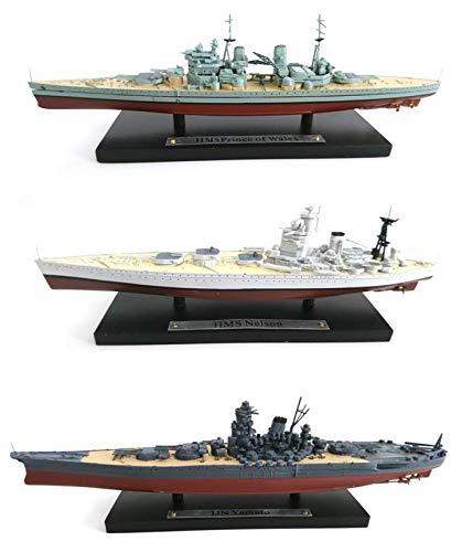 OPO 10 - Lote de 3 Buques de Guerra HMS Nelson + Prince of Wales + IJN Yamato 1: 1250 (103 + 105 + 131)