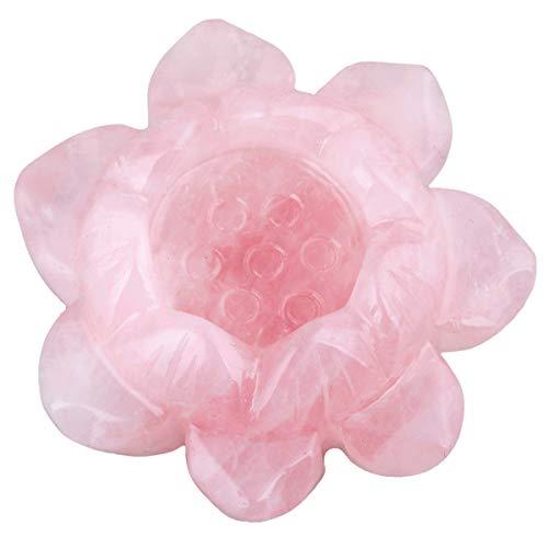 mookaitedecor heilender Kristallkerzenhalter/Kugelstand-Lotos-Blumen-Dekoration für Haupttabelle Rosenquarz