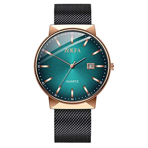 Quarzuhr Herren Armbanduhren,Evansamp Neue moderne Luxusuhren Quarzuhr Edelstahl Casual Armbanduhr Herrenuhr(C)