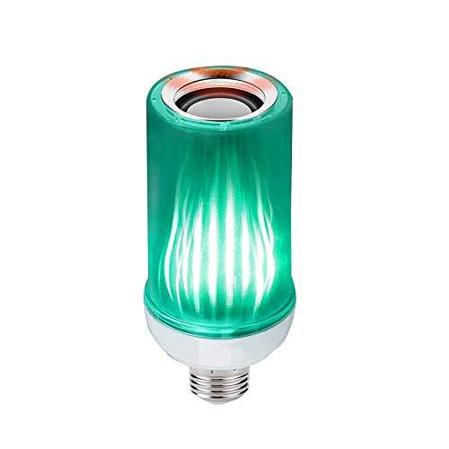 TTAototech Bombilla de luz LED para música, Bombilla de luz de cambio de color Bluetooth de 8W controlada por aplicación y control remoto, Bombilla LED inteligente RGB E27 con altavoz Bluetoot