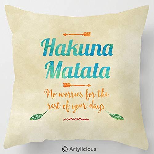 Artylicious Hakuna Matata - Cojín con Cita