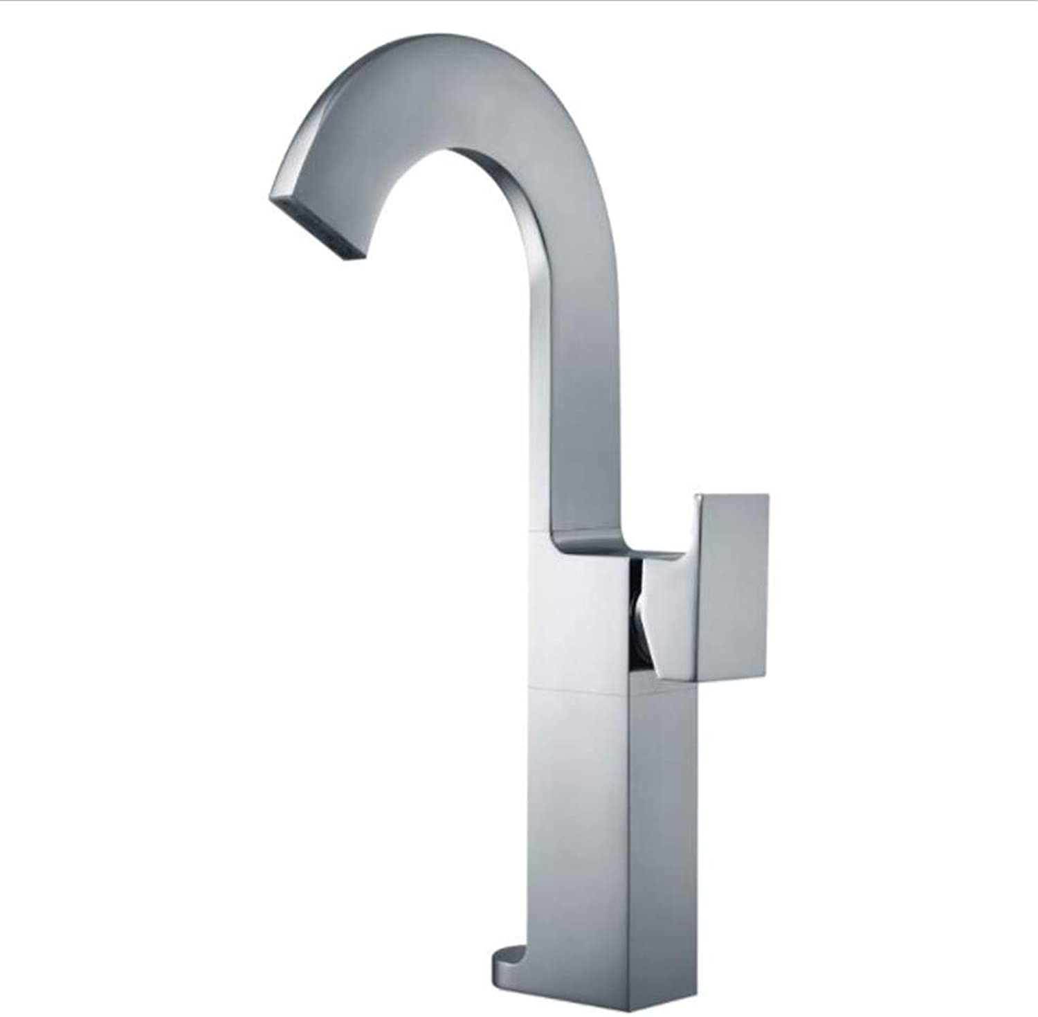 Taps Mixer?Swivel?Faucet Sink Copper Cold and Hot Raised Basin Wash Dish Faucet Platform Basin Waterfall Type