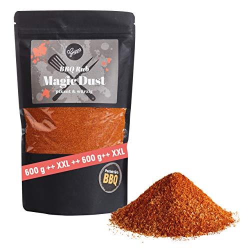 Gepp's Feinkost Magic Dust Rub | 600g XXL Rub | BBQ Gewürz mit Raucharoma, frei von künstlichen Zusätzen | Ideal zum Grillen - Marinieren von Fleisch | Hergestellt nach eigener Rezeptur (A1000)