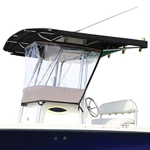 Oceansouth Universal T-TOP Enclosure, Spray Shield, Clear, Spray Curtain, for Consoles Over 27½''