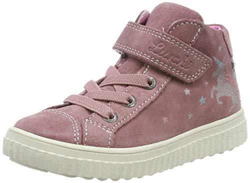 Lurchi Jungen Mädchen YUNA-TEX Hohe Sneaker, Rot (Sweet Rose 29), 33 EU