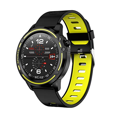 XXY Smart Watch Men IP68 Impermeable SmartWatch ECG Presión Arterial Ratio Corazón Fitness PK L5 L9 (Color : Green)
