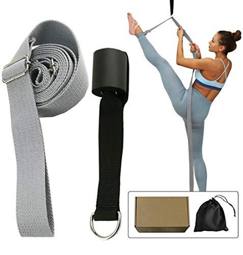NIUPENG Beinstrecker, verstellbares Stretchband mit dem Türflexibilitätstrainer, Premium-Stretching-Ausrüstung für Yoga, Ballett, Tanzen, Gymnastik Cheerleads (grau)