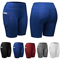 Zippem Women's Sports Fitness Active Shorts with Pocket ( Black)