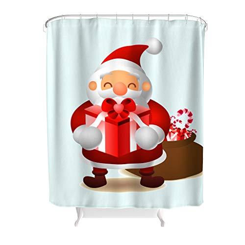 Charzee douchegordijnen leven Kerstmis Halloween patroon waterdicht schimmel resistent Kerstmis gordijn badkamer gordijn voor badkuip beste cadeau voor kinderen