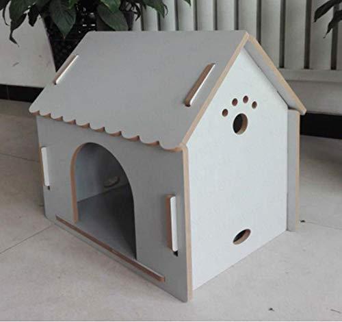 Houten hondenhok, hondenhok, geurloos, waterdicht, niet-vervormbaar hondenhok voor buiten, hondenhok met ademende raamdeur