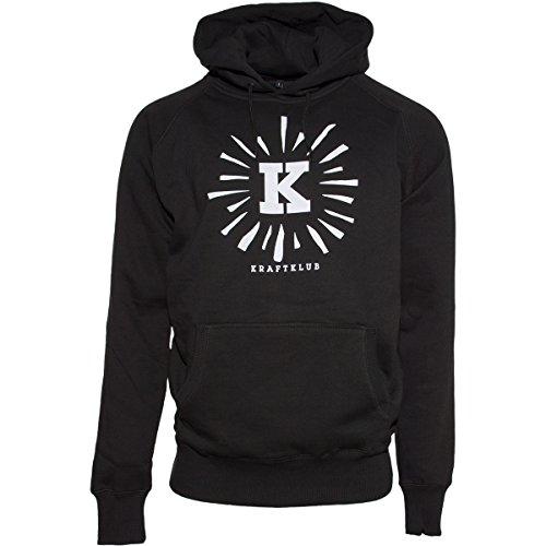 Kraftklub Leuchtendes K Hoody Schwarz XXL