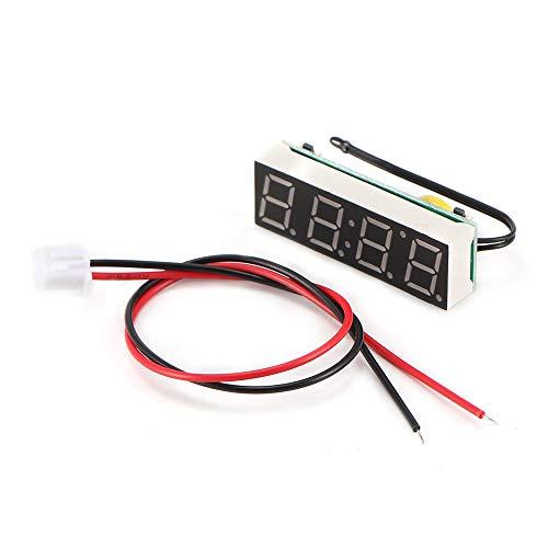 Auto Elektrische Uhr, ABEDOE 3 in 1 Uhr Thermometer Voltmeter Digital Timer Uhr Led-anzeige Auto Timer Mini Tragbare Auto Uhr (Blau)