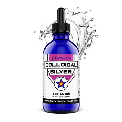 Colloidal Silver Liquid Drops - Ionic Clear - 50ppm - 60 Servings (2 Month Supply) - Concentrated for Easy and Convenient Servings - Daily Immune System Support for Adults and Children