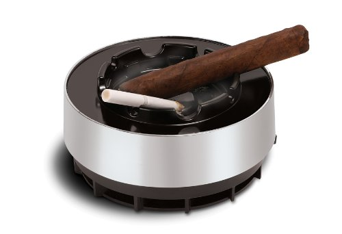 Perfect Life Ideas Smokeless Ashtray Smoke Free Ash Tray Battery Operated Portable Ideal for Use with Cigarettes, Cigars, Cigarillos, Pipes and More -...