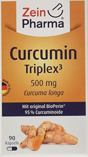 ZeinPharma Curcumin 500 mg 90 Kapseln Monatspackung Glutenfrei vegan koscher halal Hergestellt in Deutschland, Multicolour, Neutral, 59 gramm