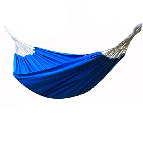 450ibs hammock, Travel camping hammocks, Ultralight portable swing hammock With tree straps Double1-2 person Backpacking hiking-Blue 200x140cm(79x55inch)
