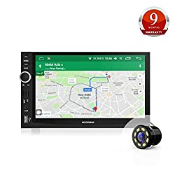 Woodman WM-GPS3030 GPS Navigation and FM/Bluetooth/USB, 1080px Full Had Car Stereo with LED Rear-View Camera (Black)
