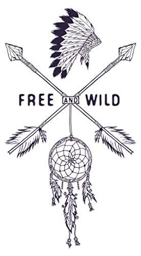 Wandtattoo USA Wandsticker Traumfänger mit Indianer Federn Amerika Wandtattoo z