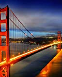 Cornell Notes Notebook: The Golden Gate Bridge Medium Lined Cornell Method Notebook for Class, Work or Home Use. Journal Note Taking System for ... or University. San Francisco Magical Night