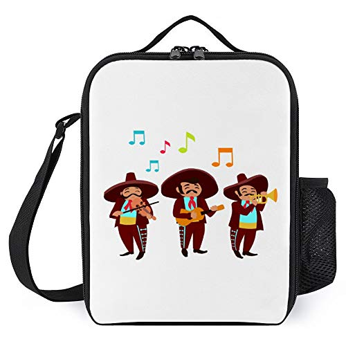 Lunch Box for Kids Lunch Bags with Bottle Holder for Women Men Mariachis Fashion Insulated Lunchbox Large Reusable Meal Prep Bag for Work School Picnic