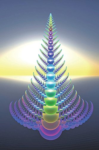 Blue Christmas Tree Fractal Art Journal: 150 page lined notebook/diary
