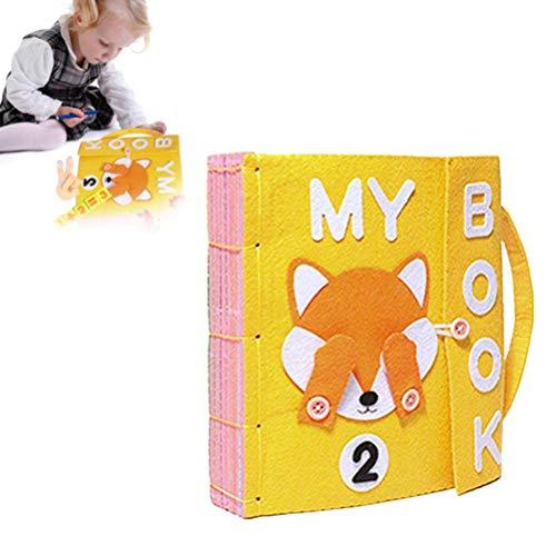 BSTQC DIY Libro Quiet Fieltro Libros de bebé temprano del Desarrollo cognitivo Juguetes Hechos a Mano Libro Educativo para el Cabrito del paño del bebé Libro