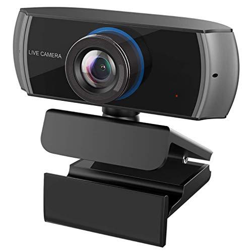 USB-Webcam mit eingebautem Mikrofon USB Driver-Free HD Live Video Geeignet für Webcast/Video Chat/Videokonferenz, Schwarz