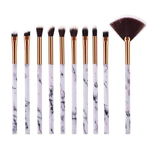 JOMSK 10 Pcs Pinceau De Maquillage Pinceau pour Les Yeux Fard À Paupières Professionnel Eyeliner Blending Kit Crayon Essentiel Pinceaux De Maquillage