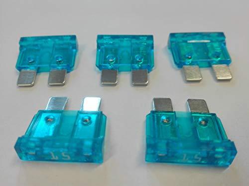 Flachsicherung 15A 15 Ampere blau AUTO SICHERUNGEN Wohnwagen x 10