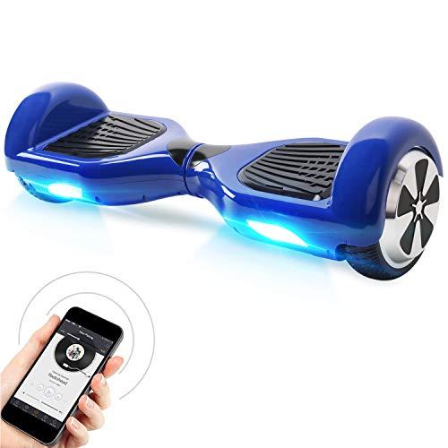 """Windgoo Hoverboard 6.5"""" Scooter eléctrico con Auto Equilibrio, Hoverboard con Bluetooth y LED, por la borda con certificación UL 2272"""