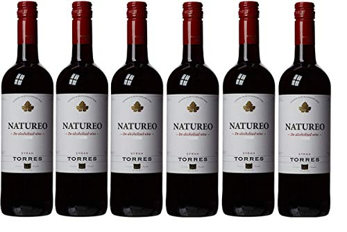 Natureo Syrah, Vino Tinto desalcoholizado - 6 botellas de 75 cl, Total: 4500 ml