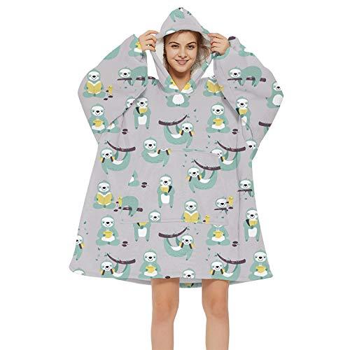 RENJIA IHGWE Übergroße Hoodie Sweatshirt Decke Übergroße Fronttasche Giant Plüsch Pullover mit Kapuze Gemütlich Bequem for Erwachsene Männer Frauen,Einheitsgröße